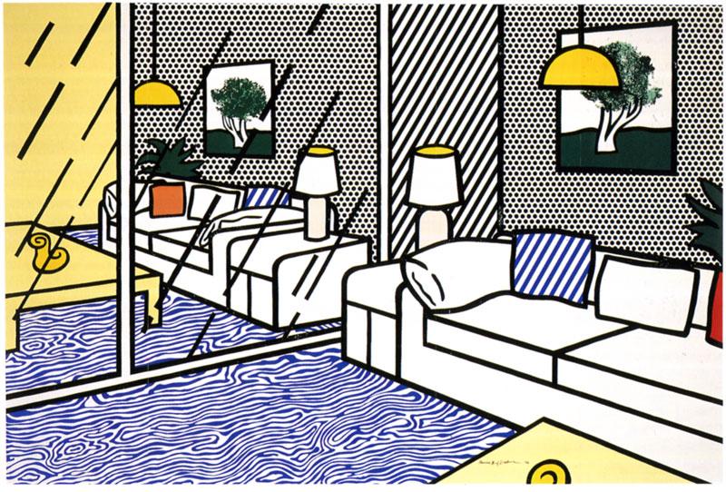 Blue Floor by Roy Lichtenstein