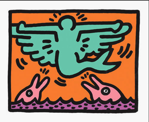 3 Pop Shop V by Keith Haring