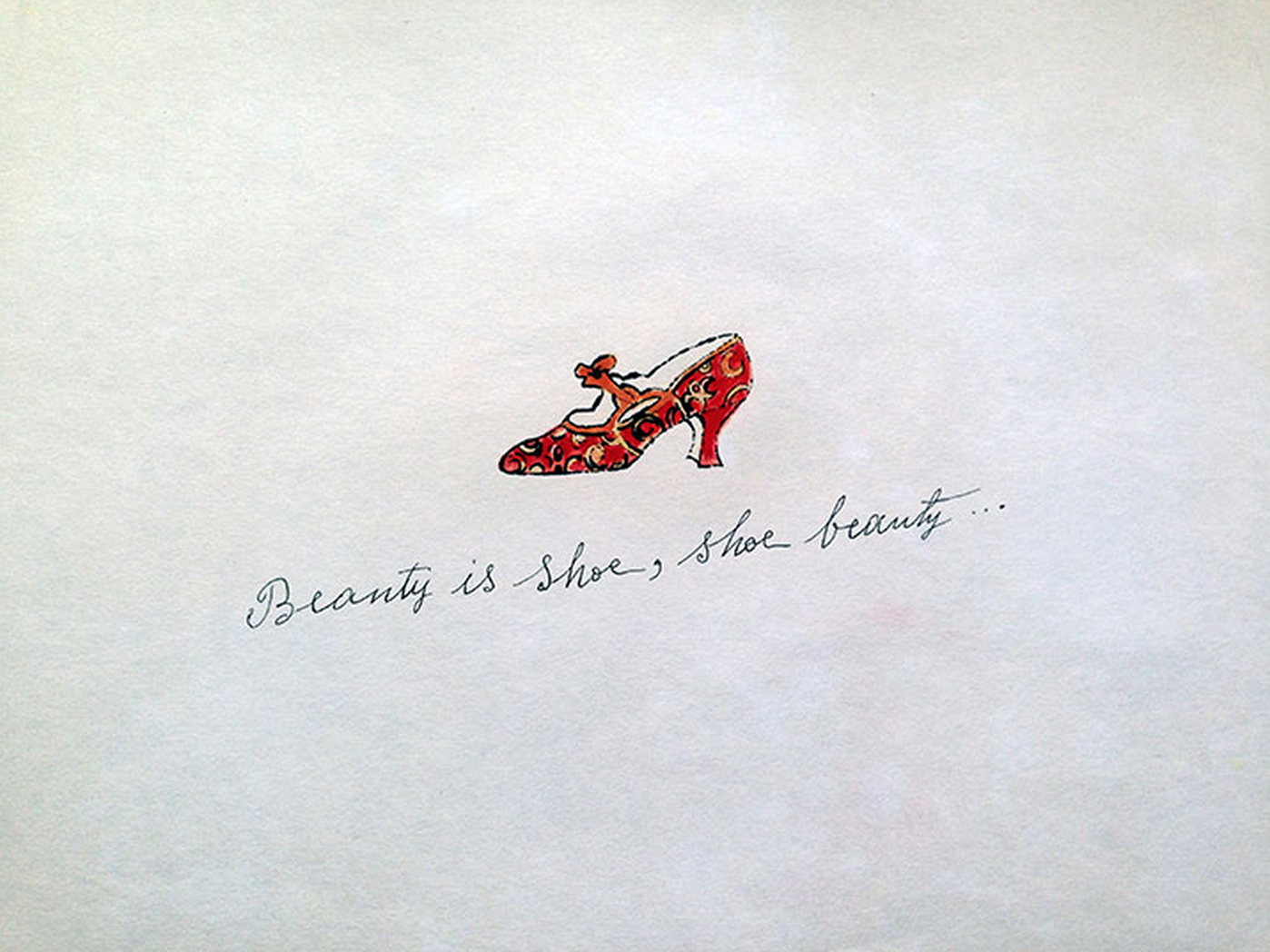 Beauty is Shoe, Shoe Beauty… – Shoe Portfolio by Andy Warhol