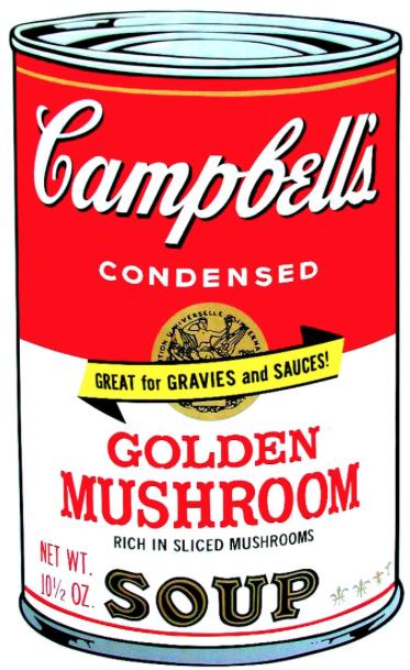 Golden Mushroom by Andy Warhol
