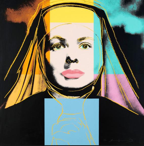 Ingrid Bergman 314 (The Nun)  by Andy Warhol
