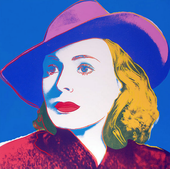 Ingrid Bergman (With Hat) by Andy Warhol