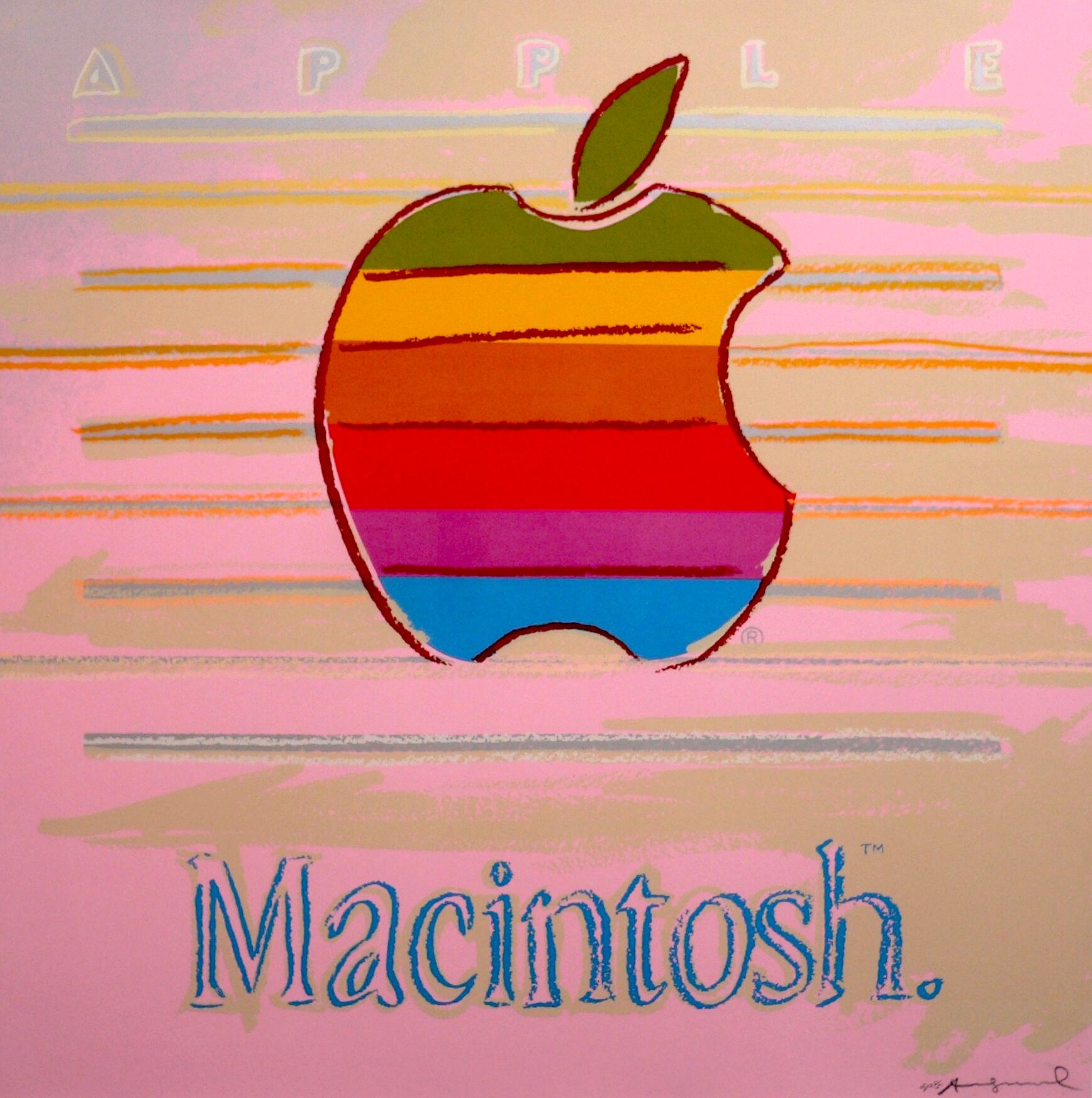 Apple (Macintosh) Ad by Andy Warhol