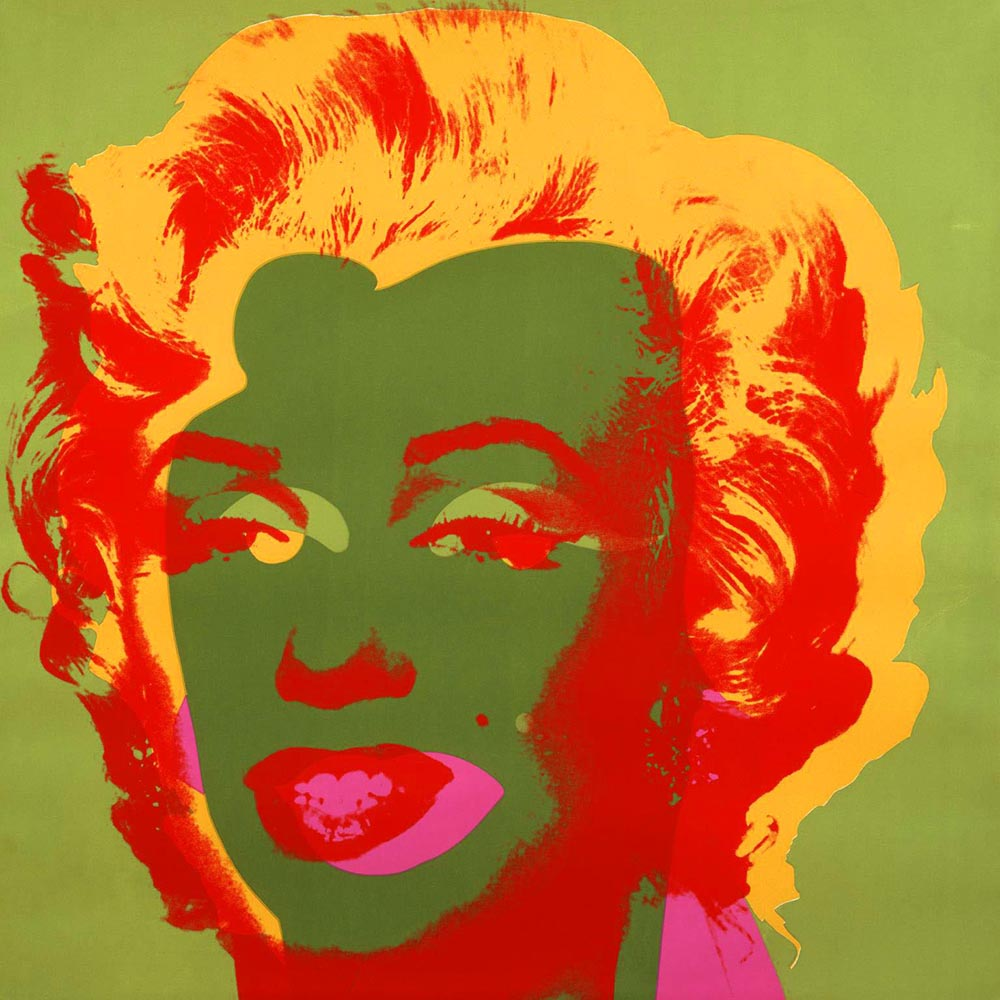Portraits of Marilyn Monroe by Andy Warhol