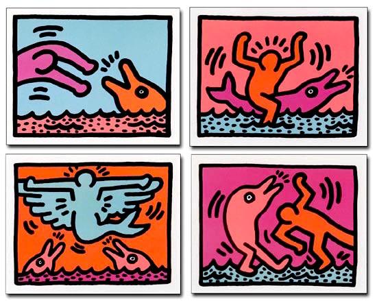 Pop Shop Quad V by Keith Haring