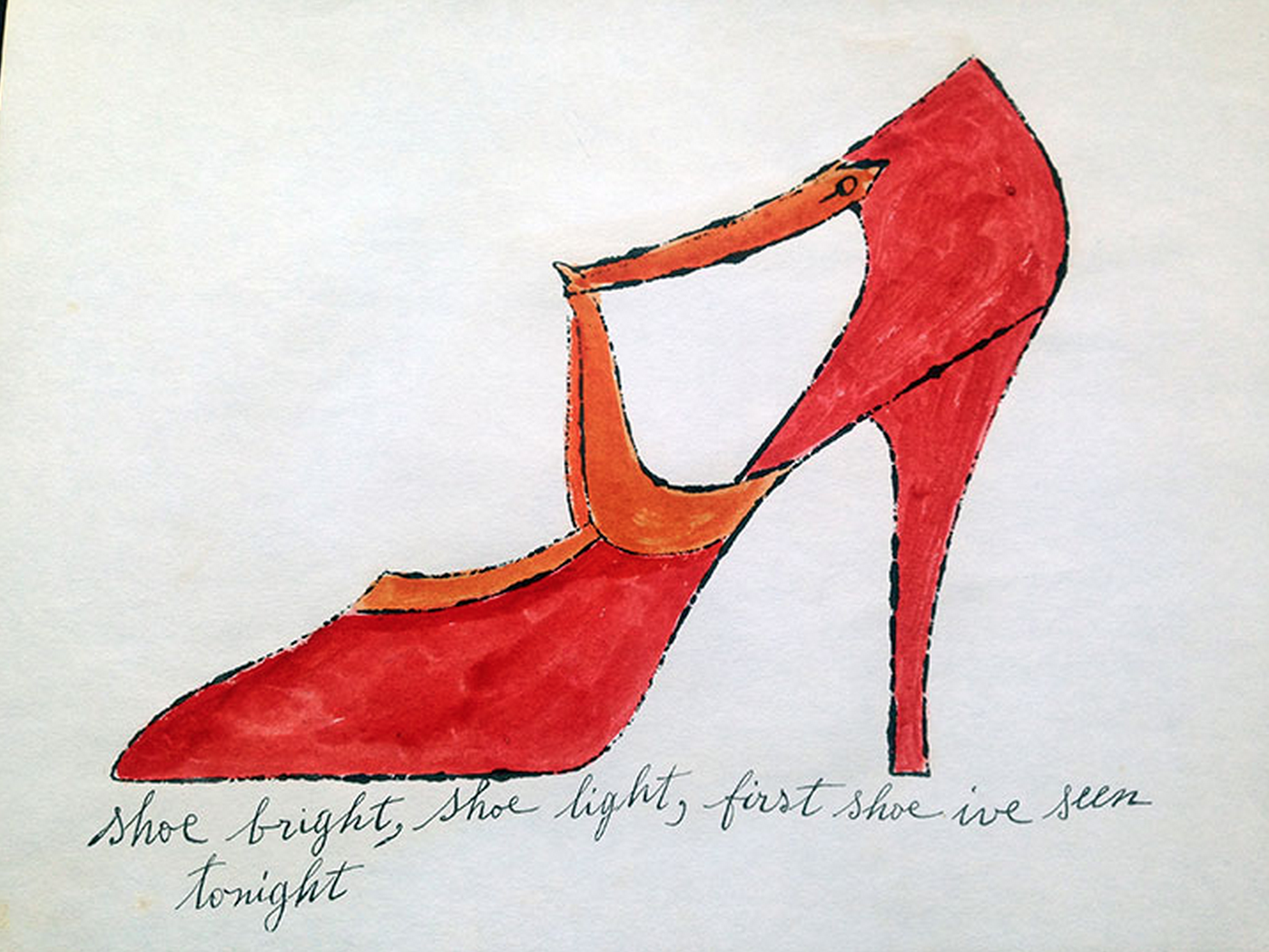 Shoe bright by Andy Warhol