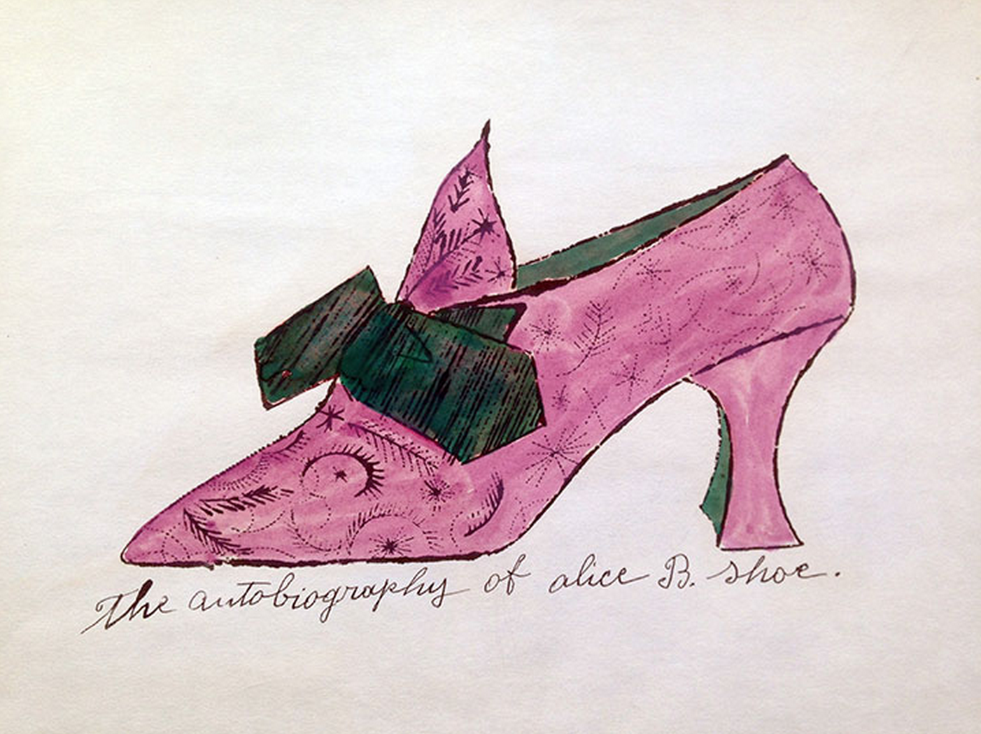 The Autobiography of Alice B. Shoe – Shoe Portfolio by Andy Warhol