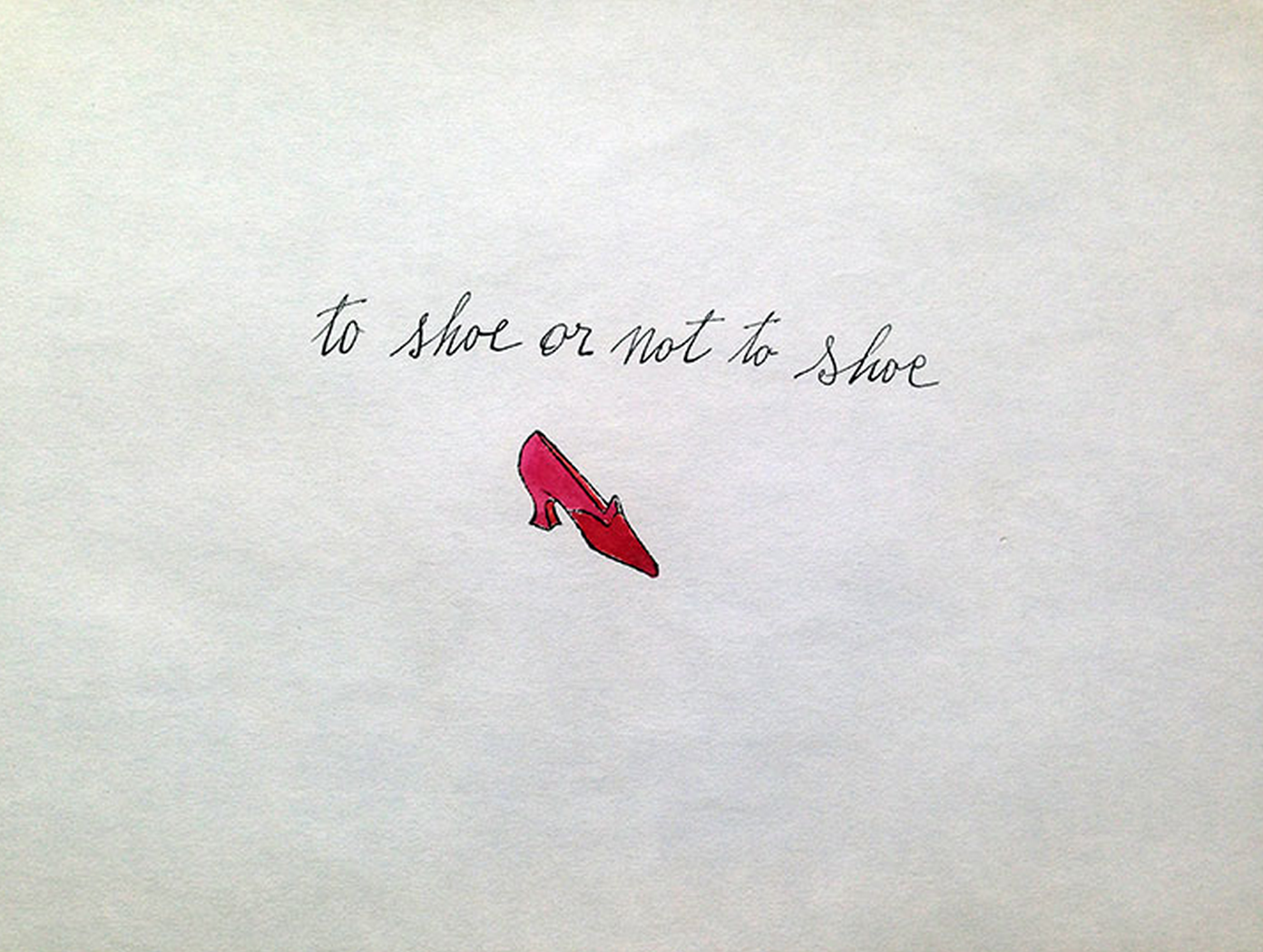 To Shoe or Not Shoe by Andy Warhol
