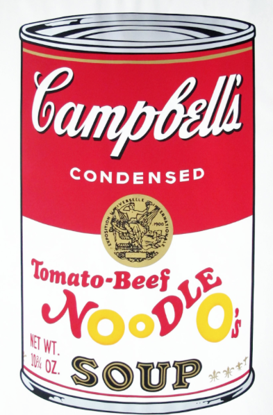 Tomato Beef Noodle O's by Andy Warhol