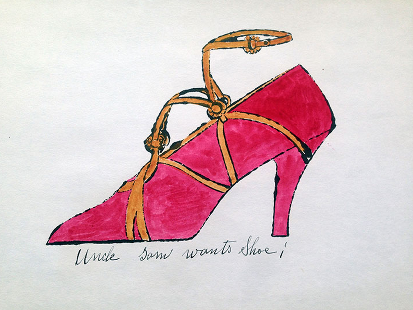 Uncle Sam Wants Shoe by Andy Warhol