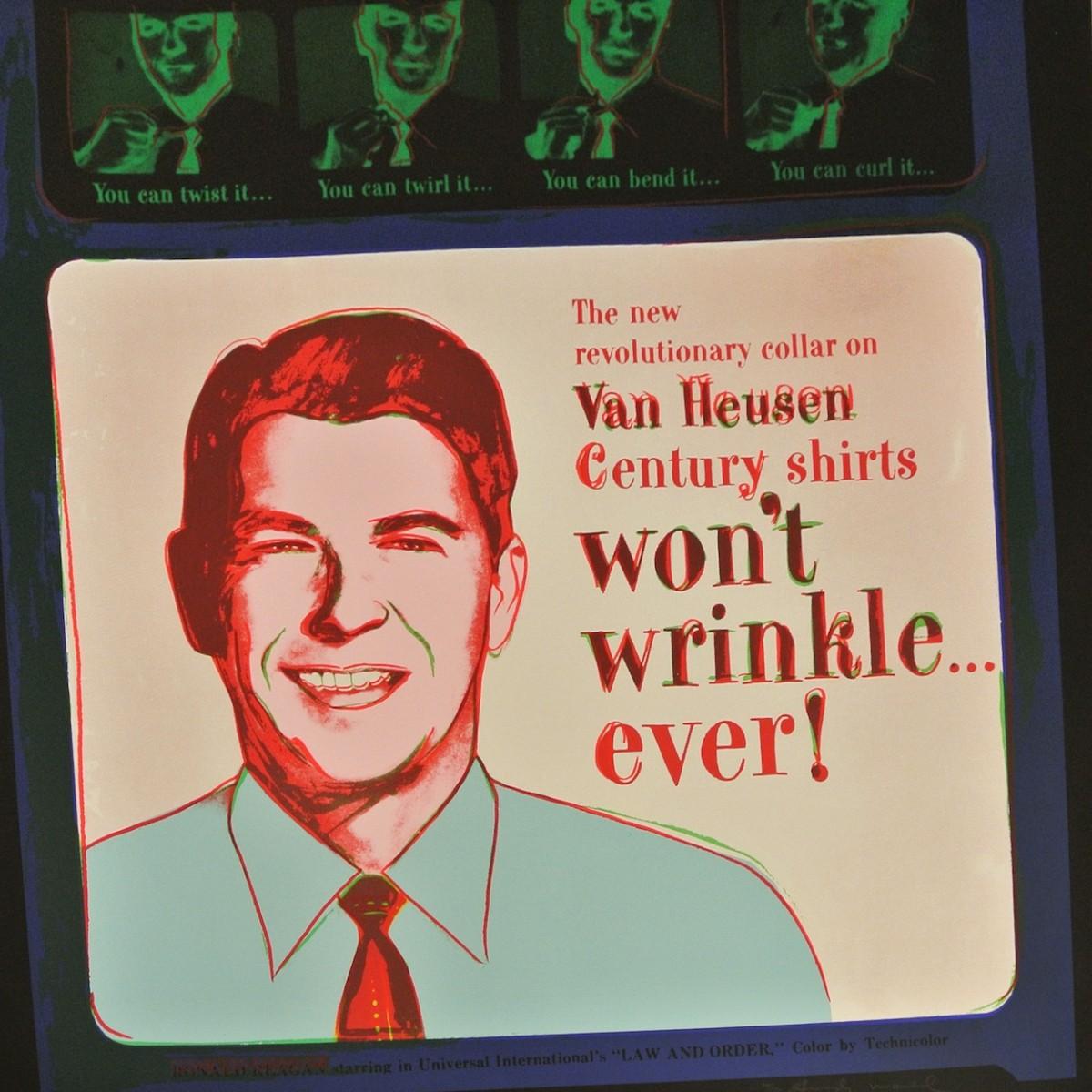 Van Heusen ( Ronald Regan) by Andy Warhol
