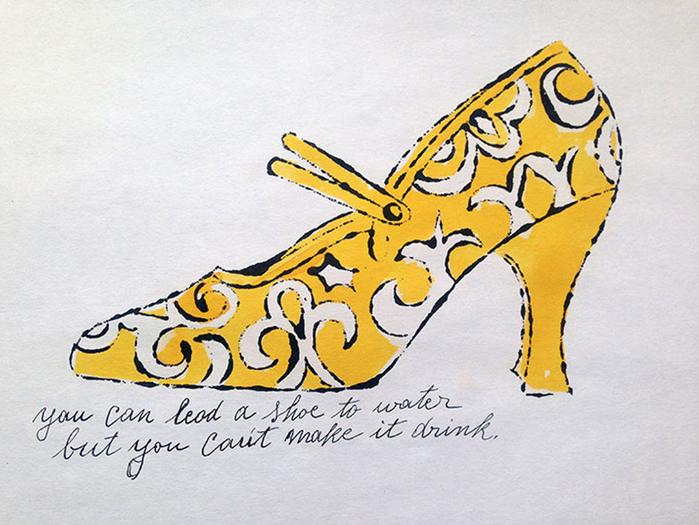 You Can Lead A Shoe to Water… – Shoe Portfolio by Andy Warhol