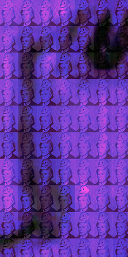 You and Me+ Warhol (Dark Purple) Detail