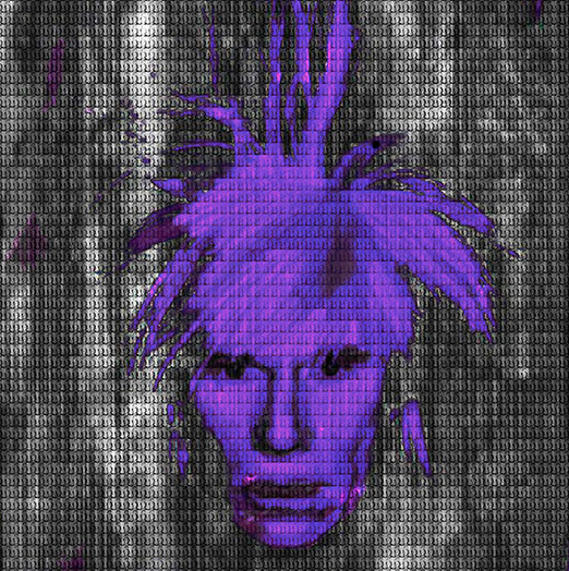 Dark Purple Andy Warhol by Alex Cao