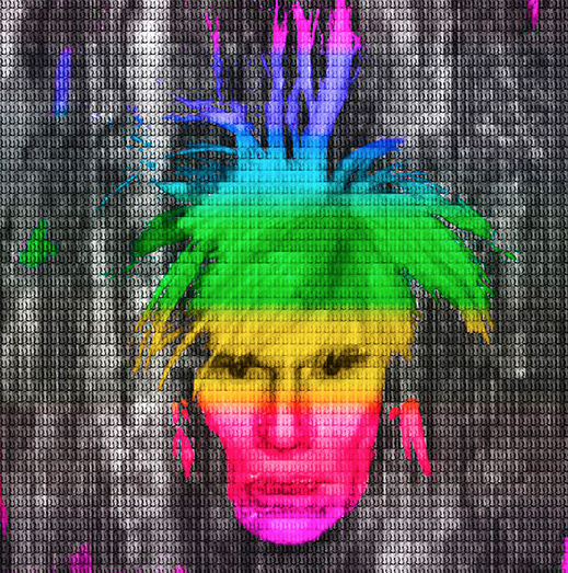 Multi Color IV Andy Warhol by Alex Cao
