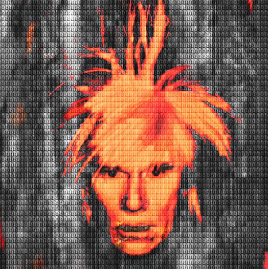 Orange Andy Warhol by Alex Cao