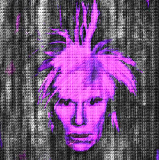 Purple Andy Warhol by Alex Cao