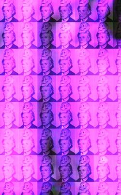 You and Me+ Warhol (Purple) Detail