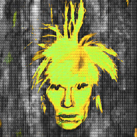 Yellow Andy Warhol by Alex Cao