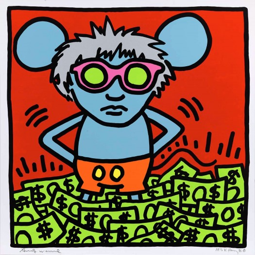 Andy Mouse 1 by Keith Haring