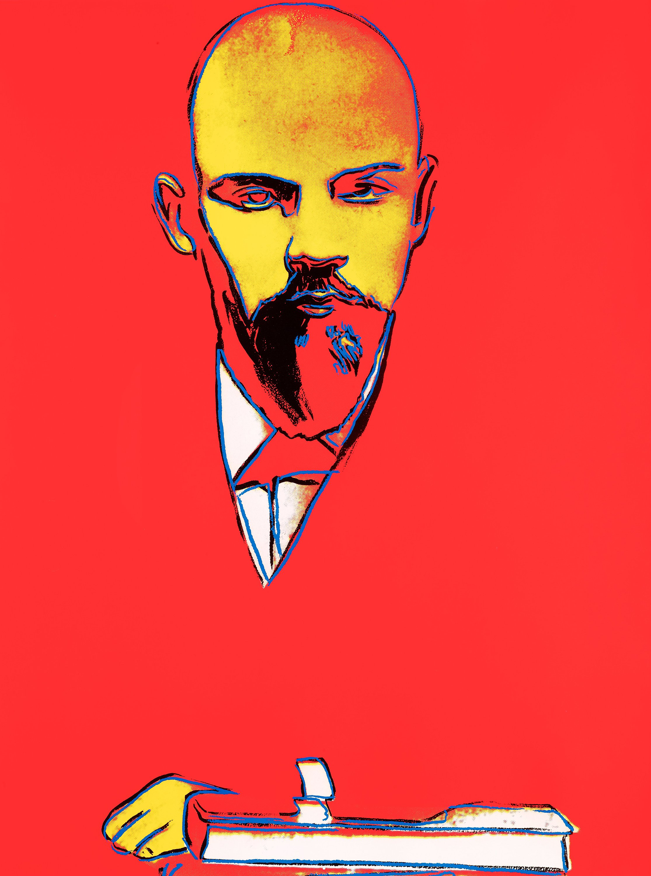 Red Lenin 403 by Andy Warhol