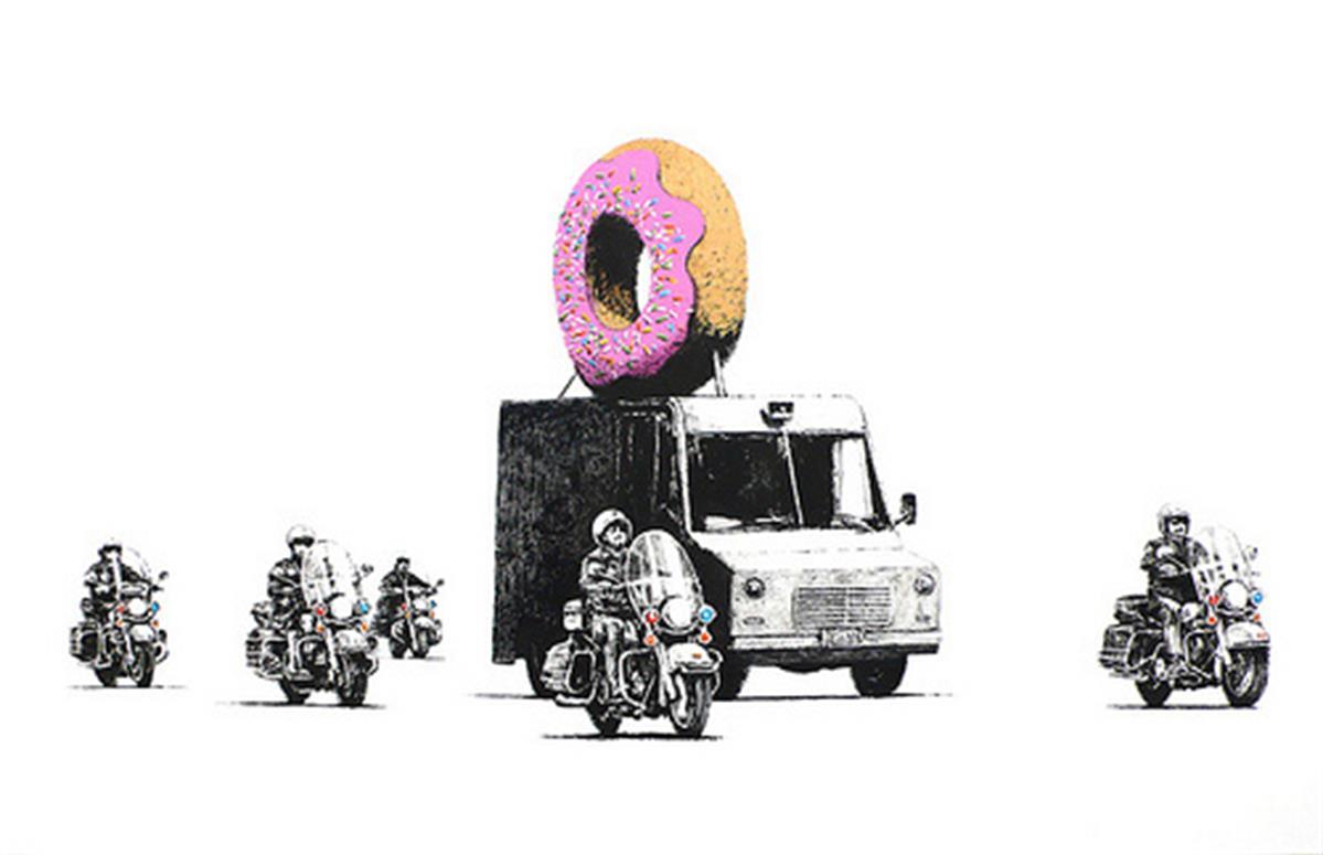 Strawberry Donut by Banksy