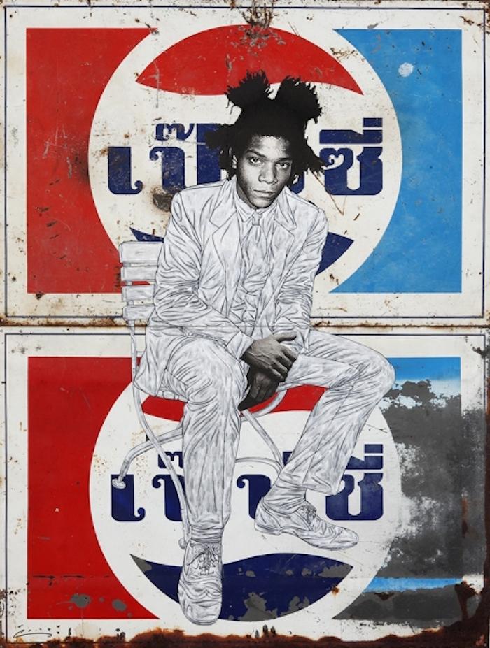 Basquiat Sits on Pepsi
