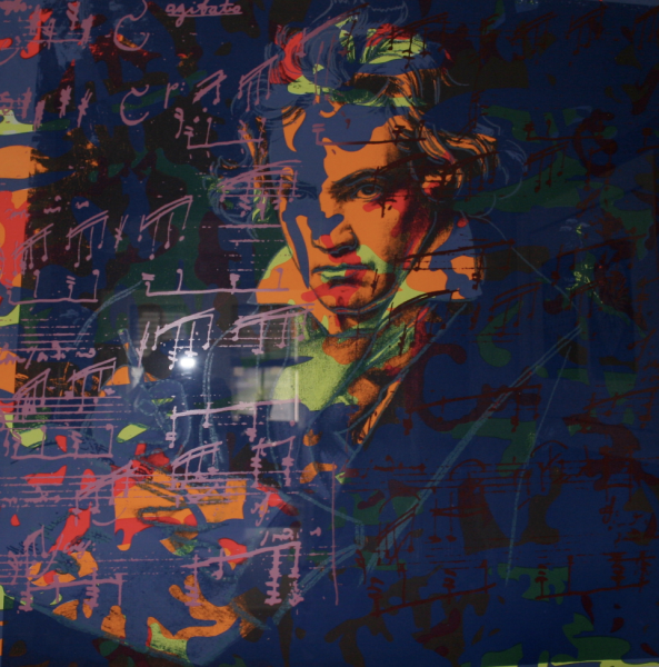 Beethoven Camo TP BY Andy Warhol