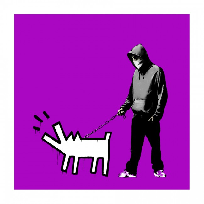 Choose Your Weapon by Banksy (Purple)