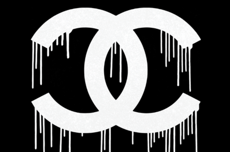 Dripping Double C Black by Ultravelvet
