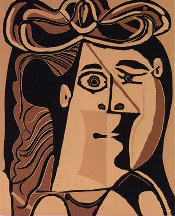 Femme Au Chapeau Linocut by Picasso