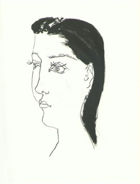 Femme Brune aux cheavaux by Picasso