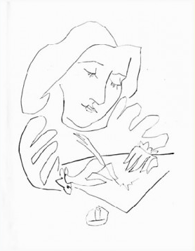 Femme  Dessinant by Picasso