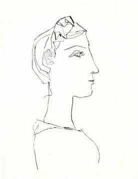 Femme a la Tresse, de Profil