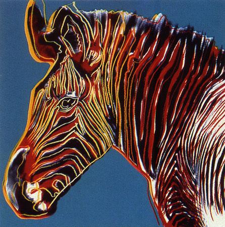 Zebra by Andy Warhol