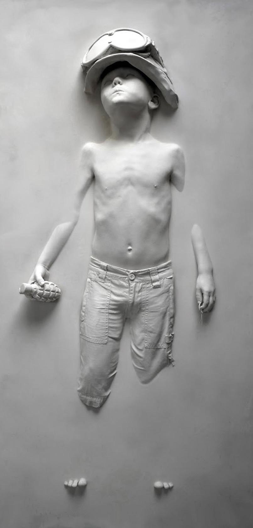 Boy Soldier Panel (Grey) by Schoony