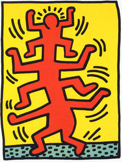 Growing 2 People Ladder by Keith Haring