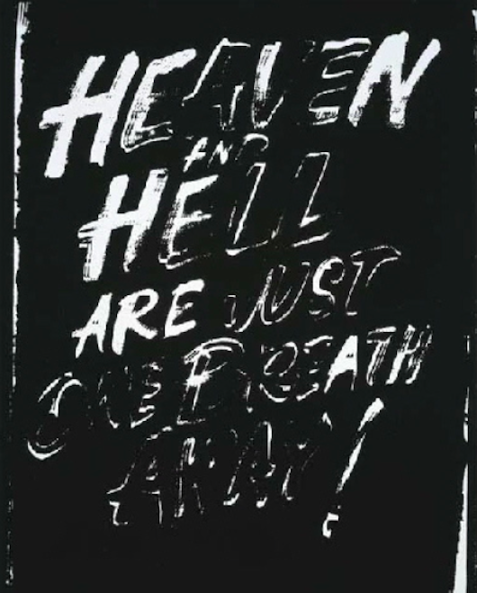 Heaven and Hell (Negative) by Andy Warhol