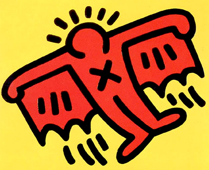 Flying Icon by Keith Haring