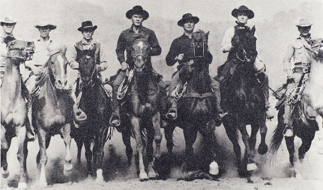 Magnificent Seven B&W By Russell Young