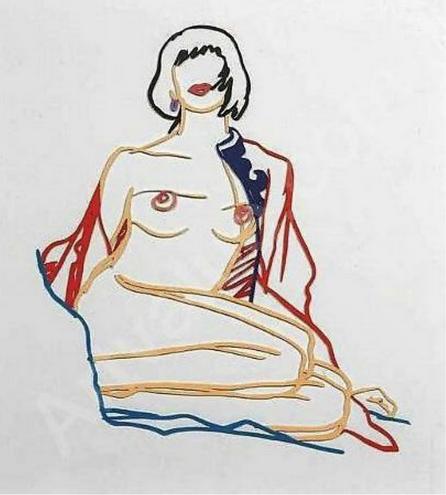 Monica Sitting Undressing