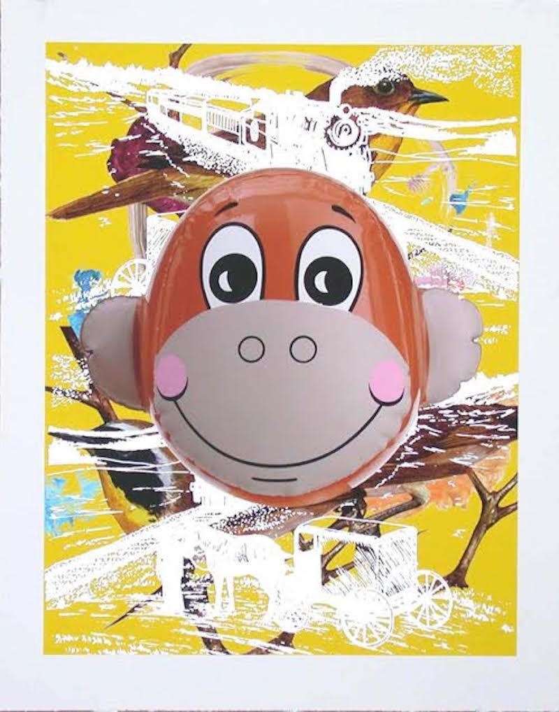 Monkey Train (Yellow) by Jeff Koons