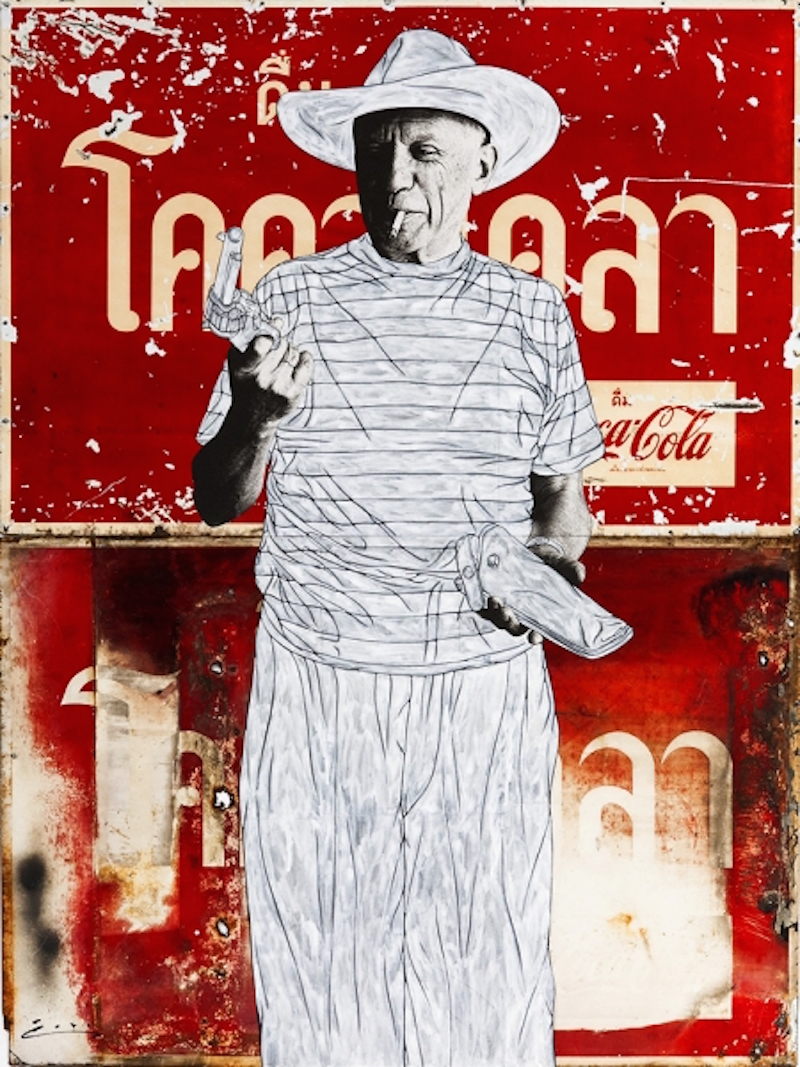 Picasso and Gun on Coke