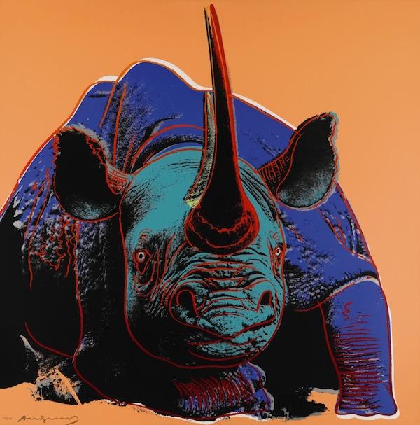 Rhinoceros by Andy Warhol