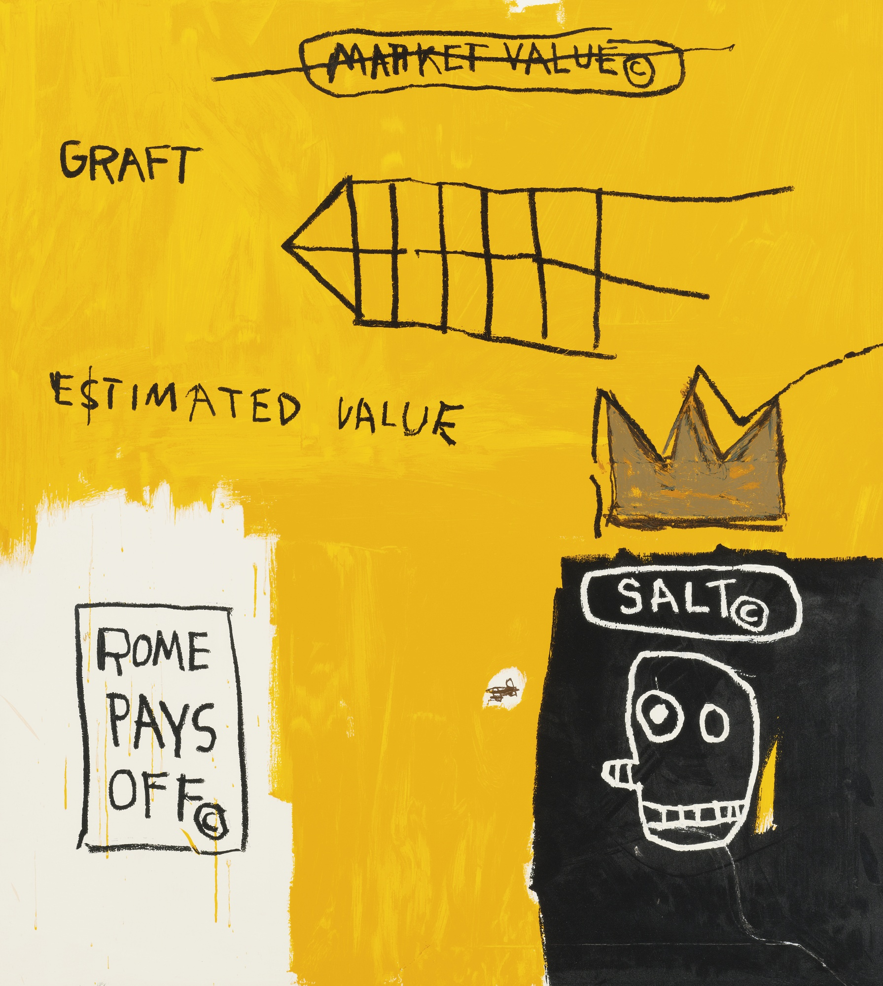 Rome Pays Off by Basquiat