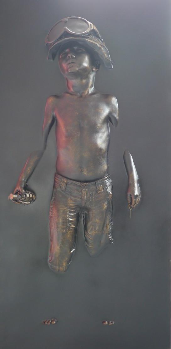 Boy Soldier Panel (Rust) by Schoony