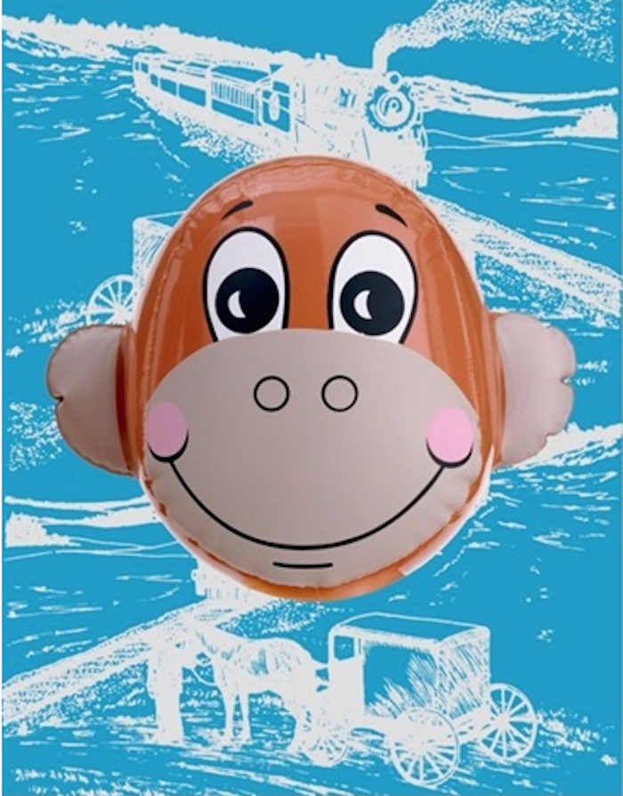 Monkey Train ( Blue) by Jeff Koons