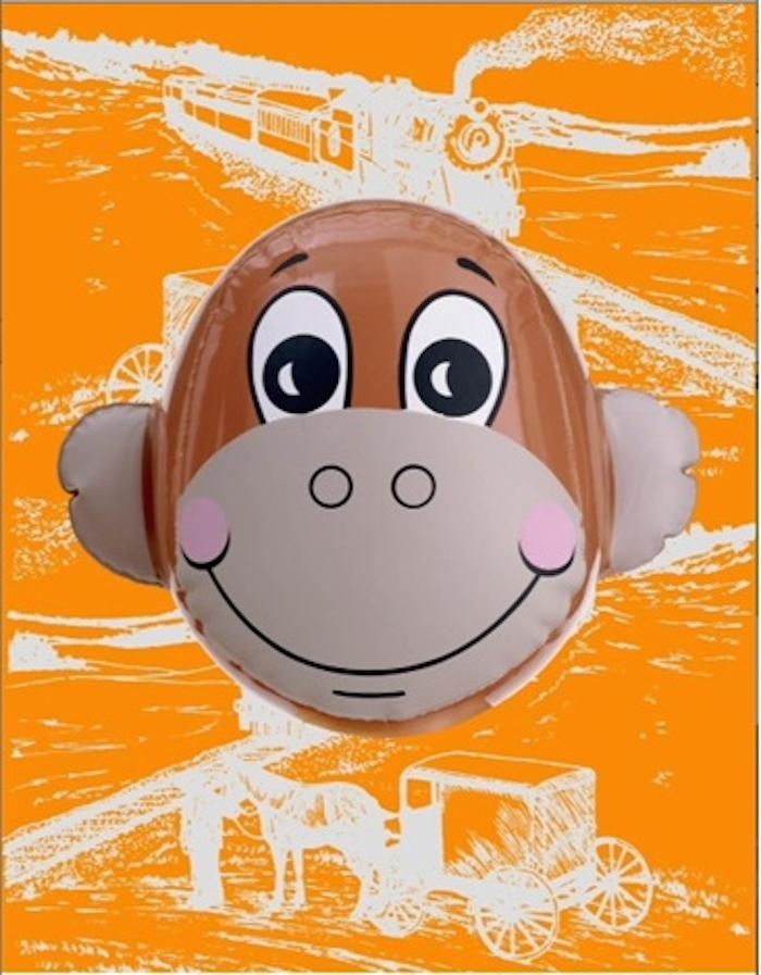 Monkey Train (Orange) by Jeff Koons
