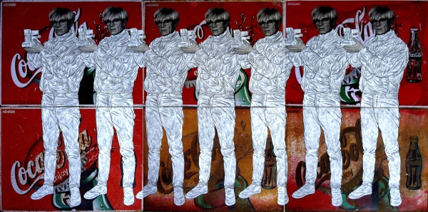 Seven Times Warhol on Coke