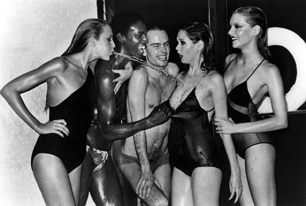 Swimwear Jerry Hall by Helmut Newton